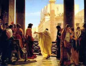 Jesus with Pilate 1