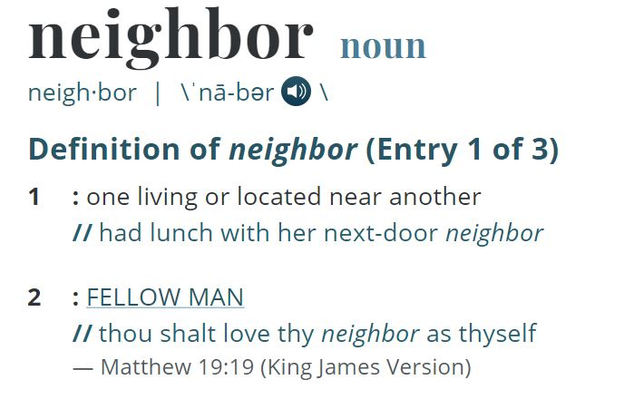Meriam Webster Neighbor
