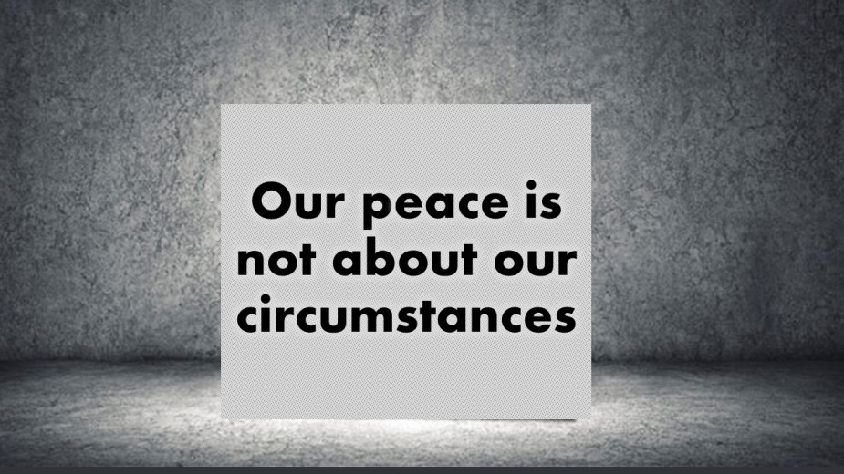 Our peace